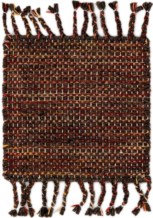 Chocolate Brown  1' 6 x 1' 7 Braided Chindi Sample