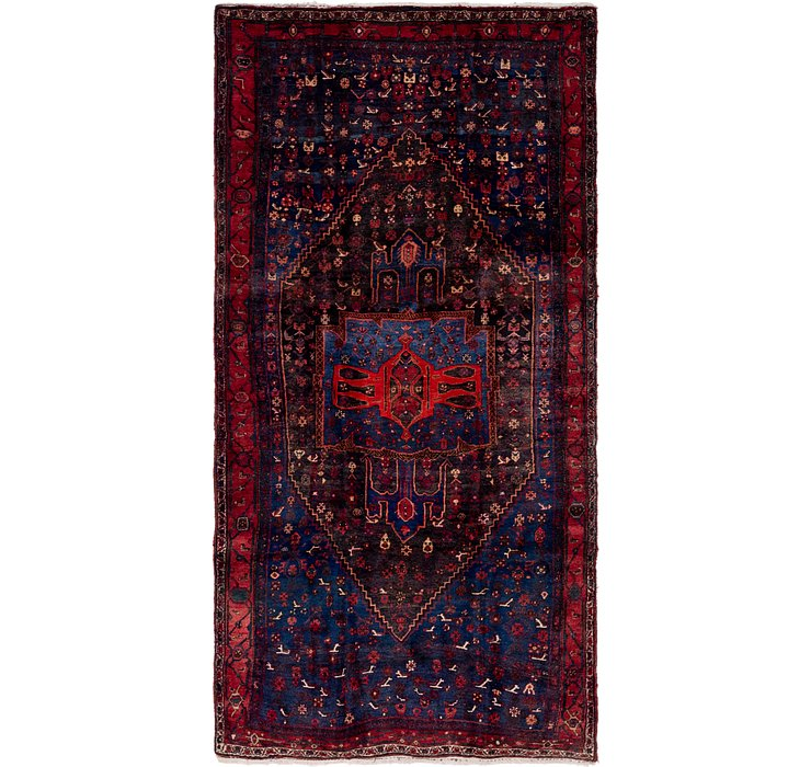 4' 9 x 9' 6 Sanandaj Persian Runner...