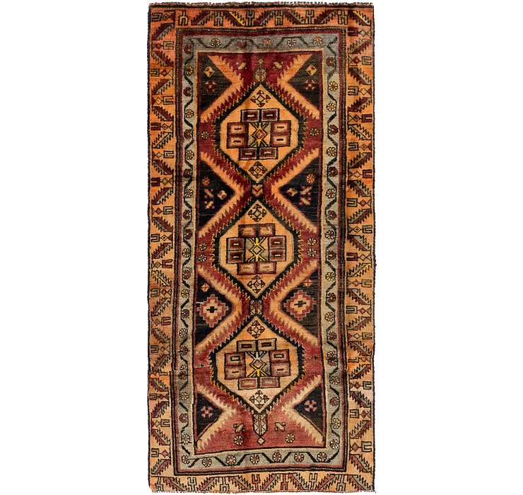 3' 6 x 8' Shiraz Persian Runner Rug