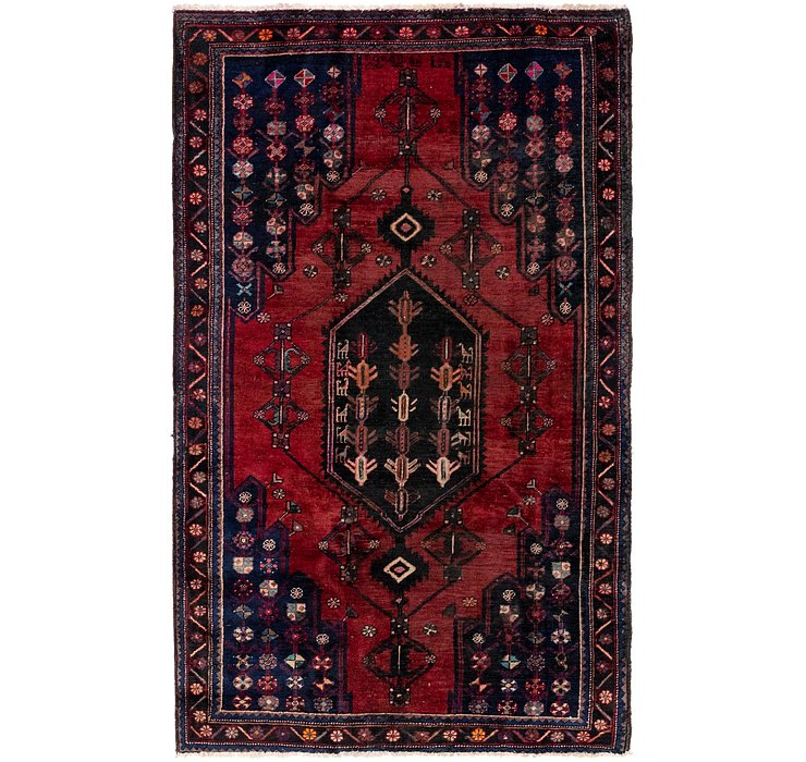 4' 7 x 7' 9 Mazlaghan Persian Rug