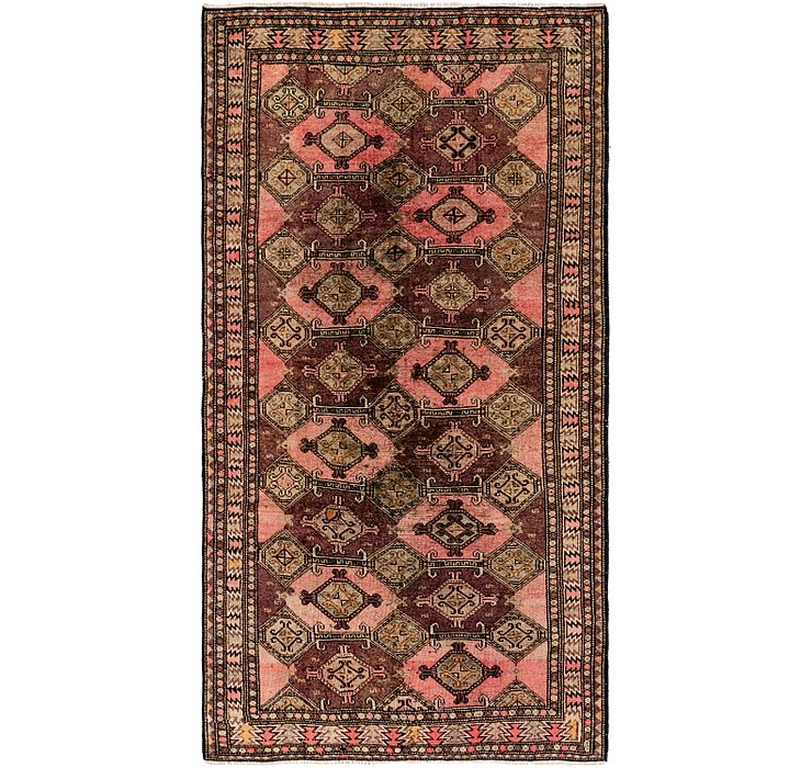 4' 2 x 8' 3 Shiraz Persian Runner Rug