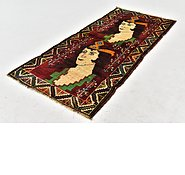 Link to 3' x 6' 8 Ghashghaei Persian Runner Rug