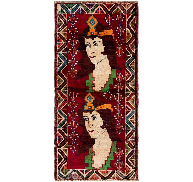 3' x 6' 8 Ghashghaei Persian Runn...
