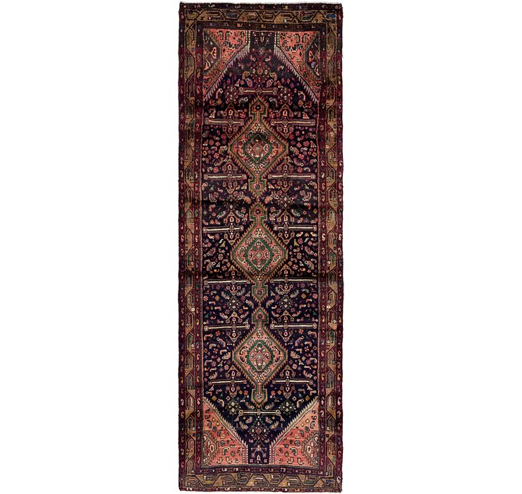 3' 2 x 9' 10 Darjazin Persian Runner...