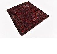 Link to 127cm x 140cm Hamedan Persian Square Rug