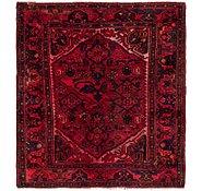 Link to 4' 2 x 4' 7 Hamedan Persian Square Rug