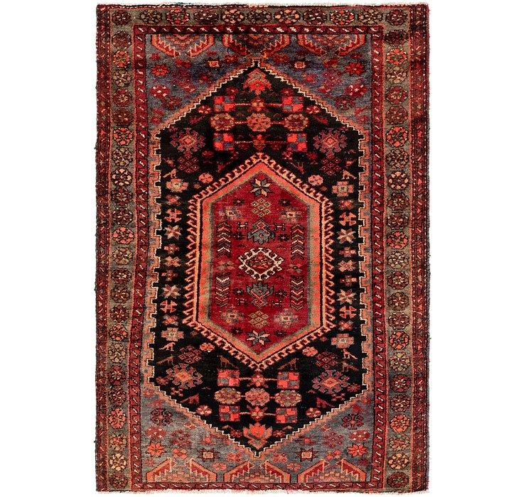 4' 2 x 5' 3 Hamedan Persian Rug