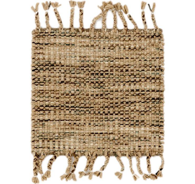 48cm x 48cm Hand Braided Square Rug