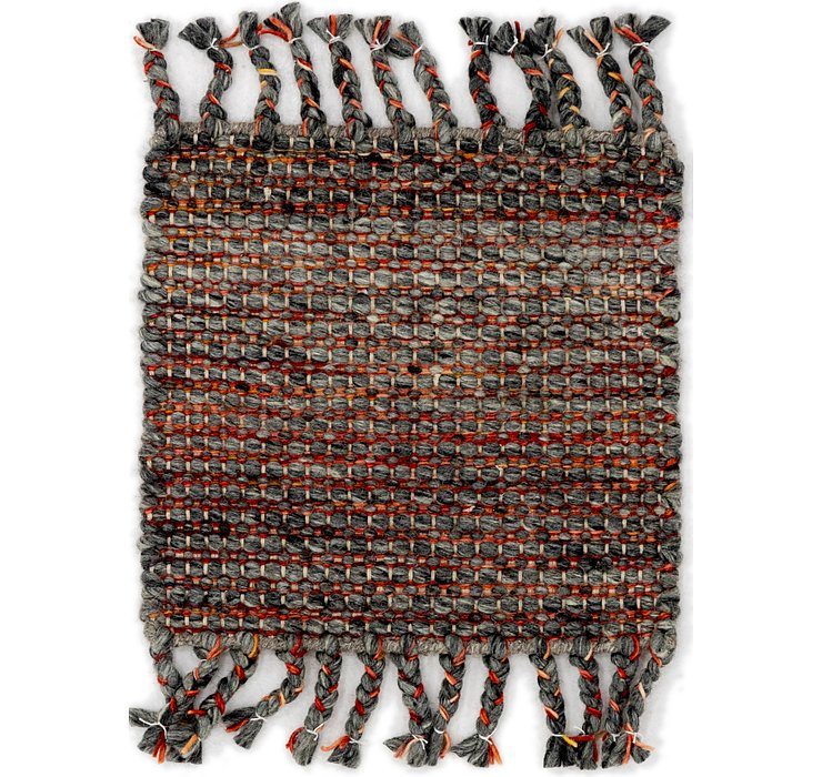 1' 6 x 1' 7 Hand Braided Square Rug