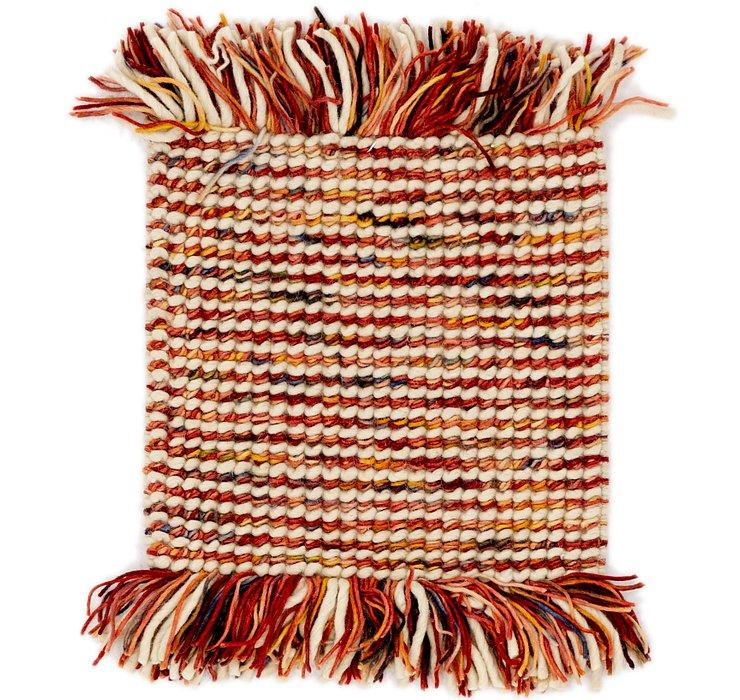 43cm x 43cm Hand Braided Square Rug