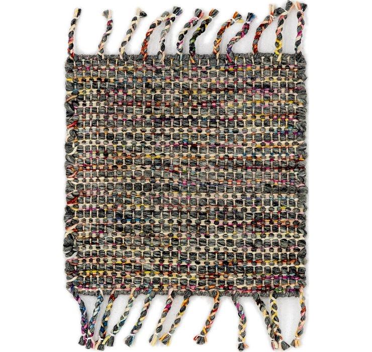 48cm x 50cm Hand Braided Square Rug