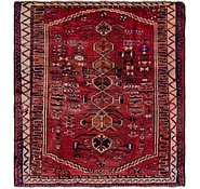Link to 4' 10 x 5' 5 Shiraz Persian Square Rug