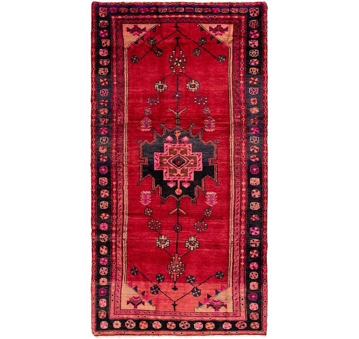 4' 9 x 9' 6 Shiraz Persian Runner Rug