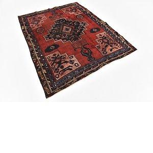 HandKnotted 5' x 6' Hamedan Persian Rug