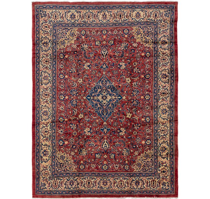 10' x 13' 4 Sarough Persian Rug