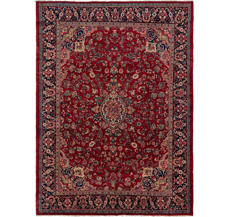 10' x 13' 9 Sarough Persian Rug