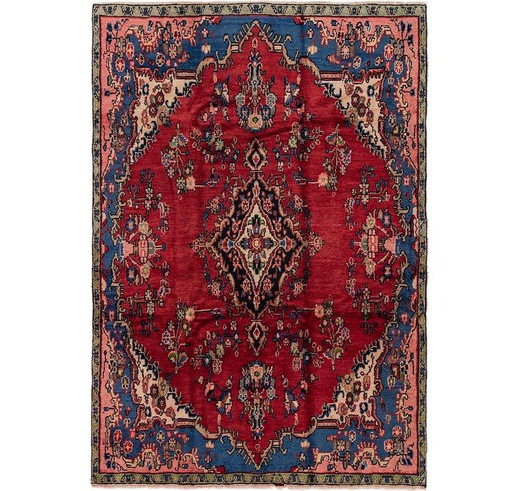 5' 6 x 8' Hamedan Persian Rug