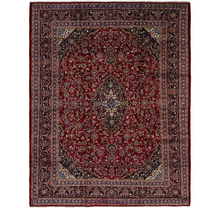 HandKnotted 9' 10 x 12' 7 Mashad Persian Rug