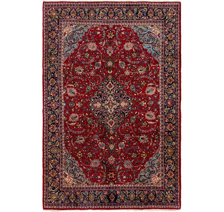 6' 5 x 10' Kashan Persian Rug
