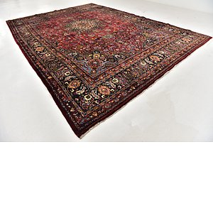 HandKnotted 11' x 15' 4 Mashad Persian Rug