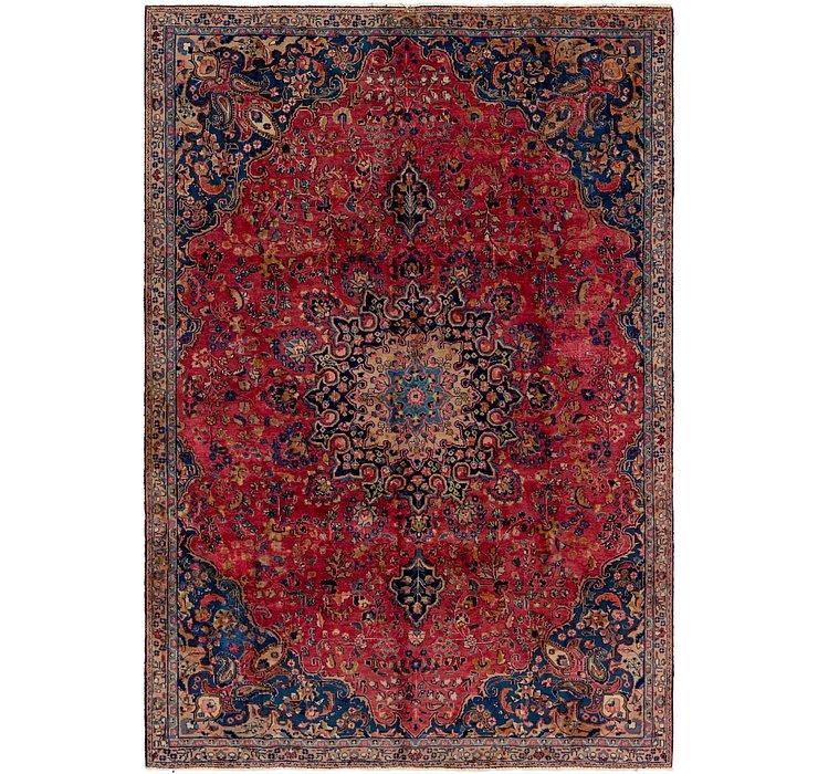 7' 2 x 10' 4 Mashad Persian Rug