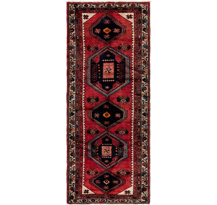 3' 8 x 9' 5 Khamseh Persian Runner ...