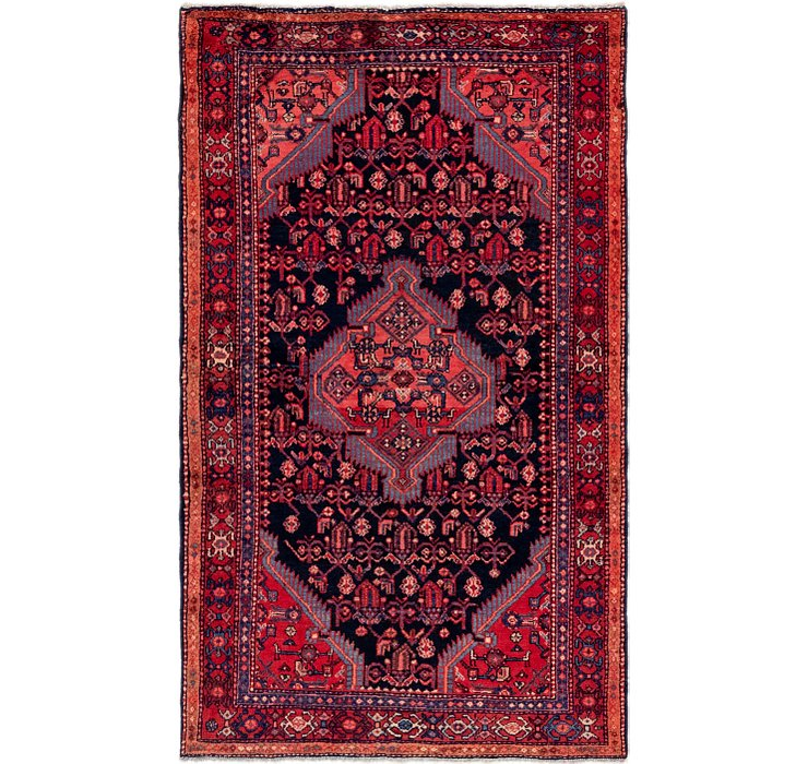 4' 3 x 7' Hossainabad Persian Rug