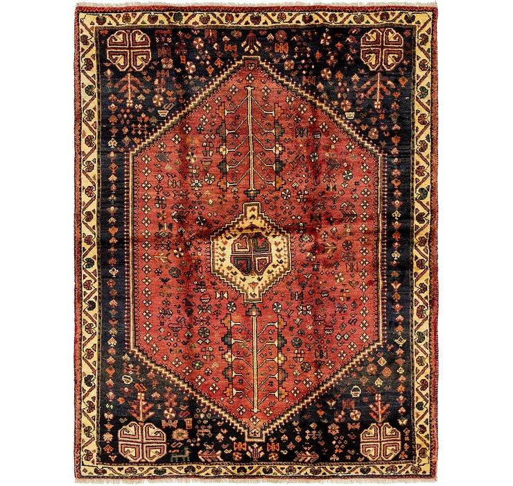 5' 2 x 6' 7 Ghashghaei Persian Rug