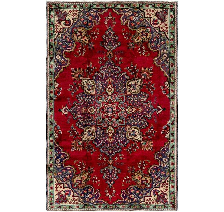 4' 8 x 7' 10 Tabriz Persian Rug
