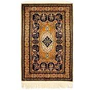 Link to 102cm x 165cm Qom Persian Rug