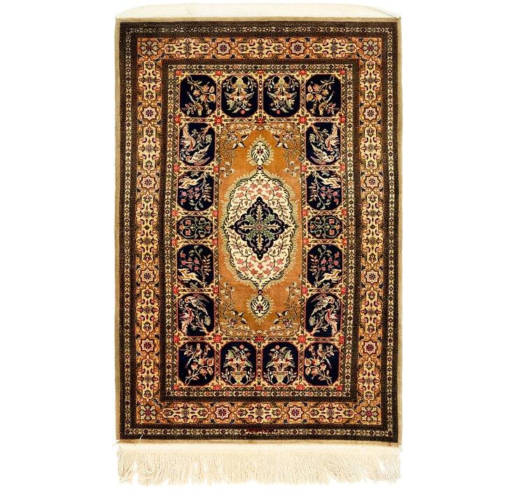 3' 4 x 5' 5 Qom Persian Rug