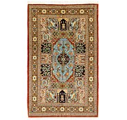 Link to 3' 5 x 5' 9 Qom Persian Rug