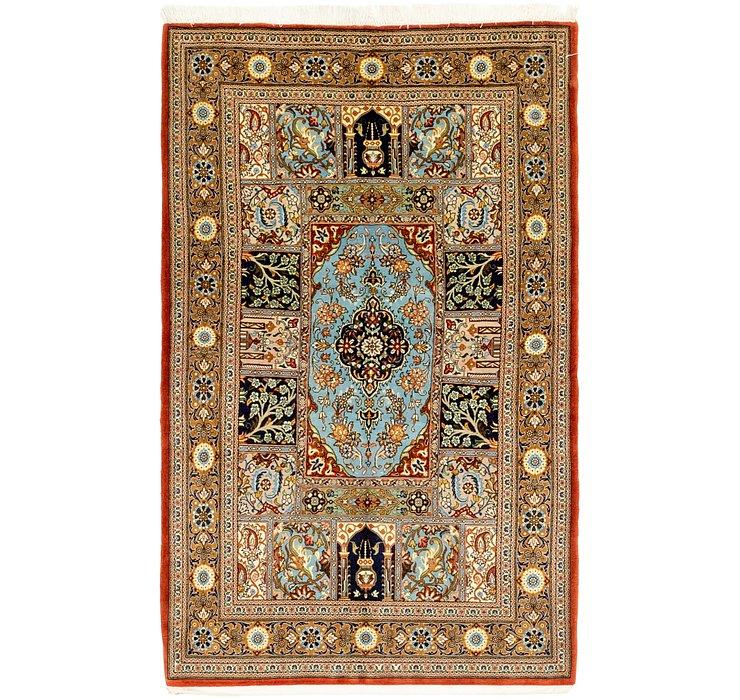 3' 5 x 5' 9 Qom Persian Rug