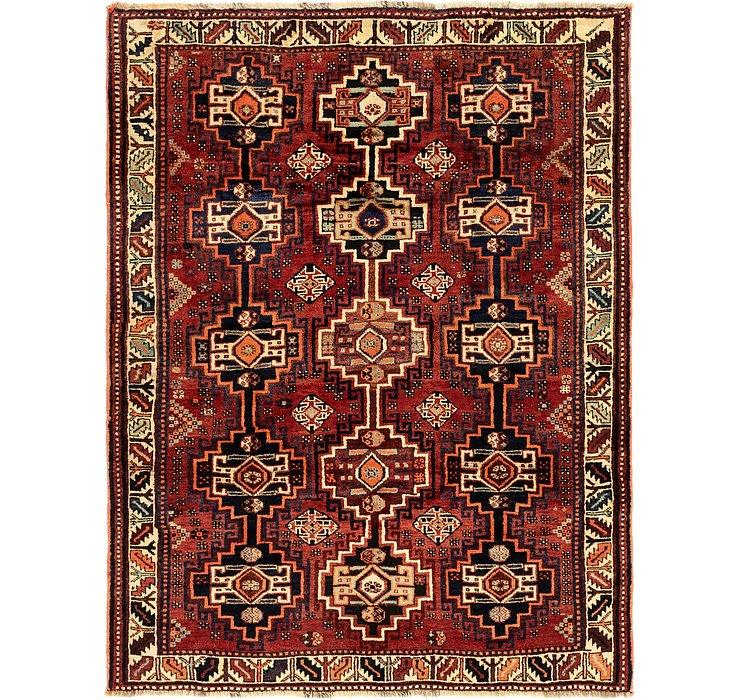 5' 3 x 7' Ghashghaei Persian Rug