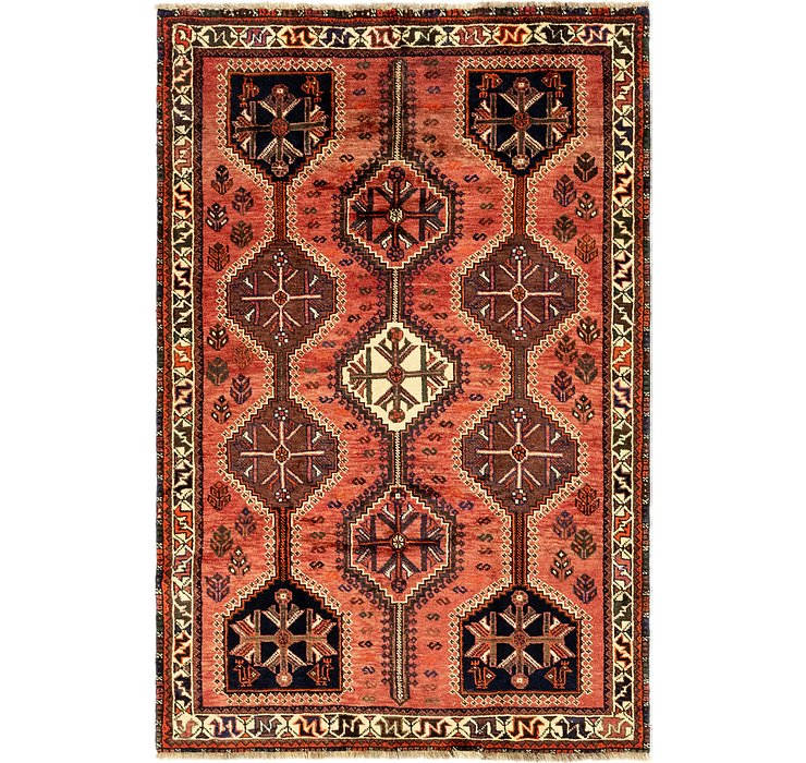 4' 8 x 7' Ghashghaei Persian Rug