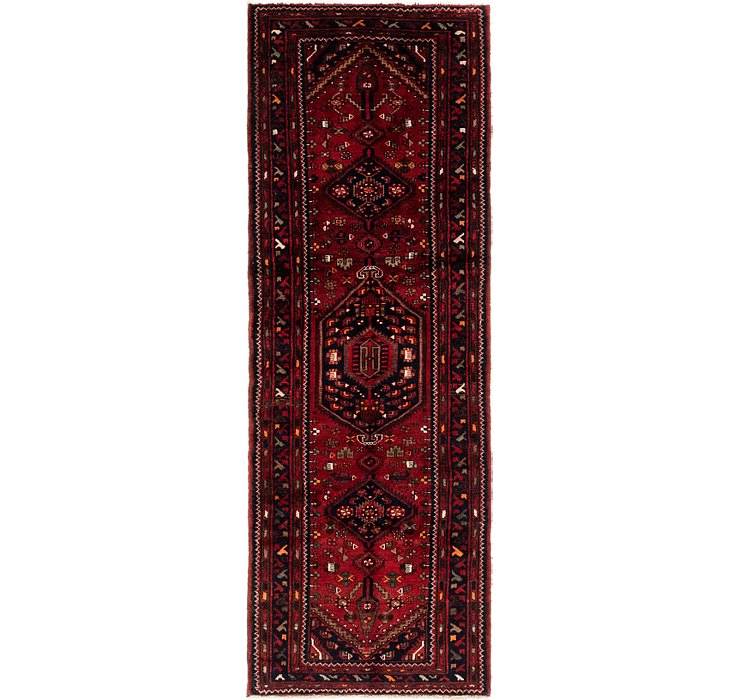 3' 4 x 9' 8 Khamseh Persian Runner ...
