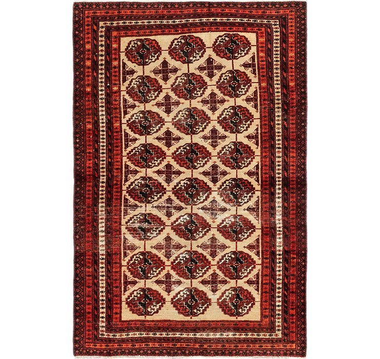 3' 9 x 5' 8 Shiraz Persian Rug