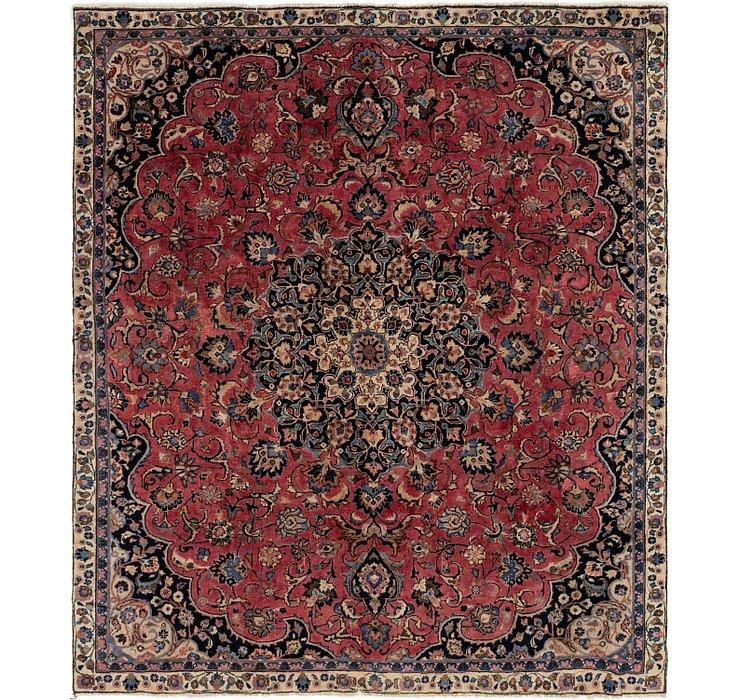 235cm x 267cm Mashad Persian Square Rug