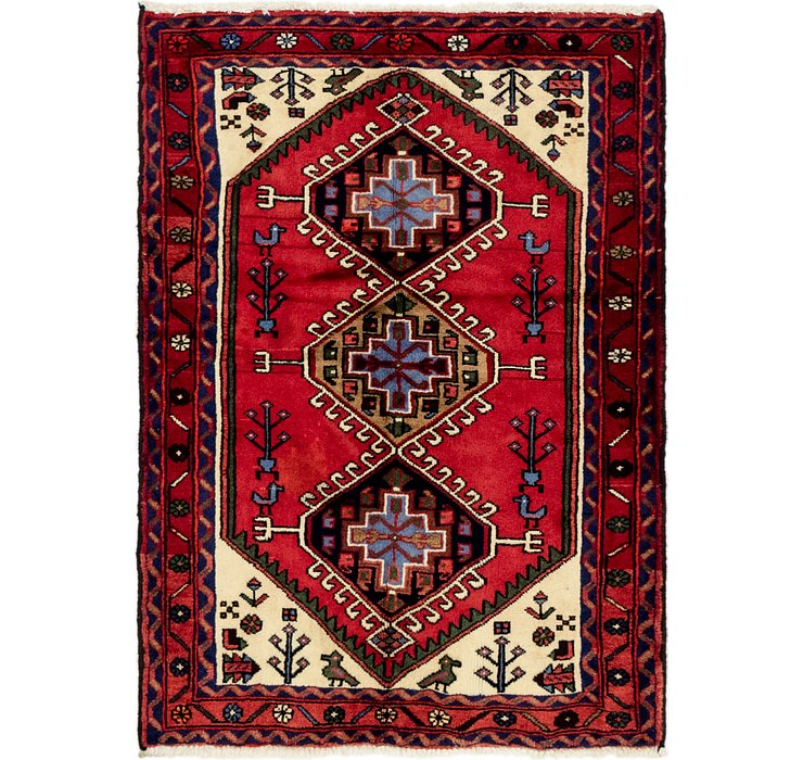 3' 7 x 5' Hamedan Persian Rug