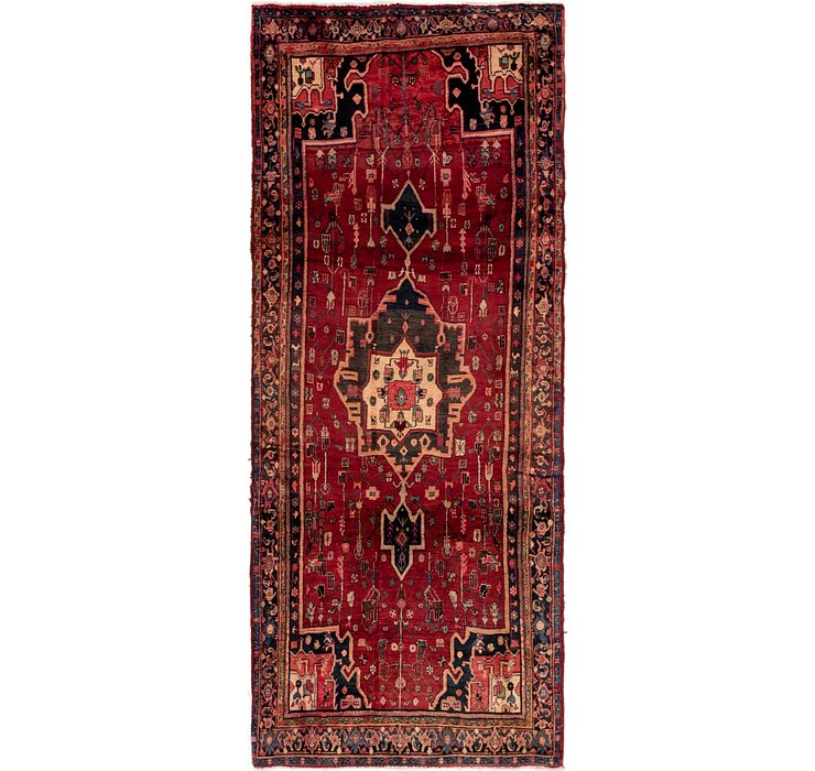 4' x 9' 7 Khamseh Persian Runner ...
