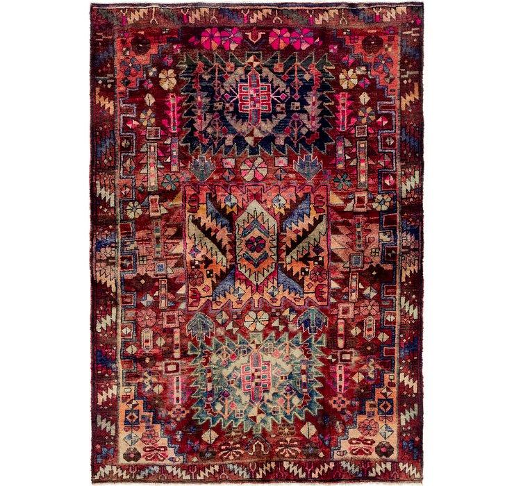 4' 9 x 6' 8 Hamedan Persian Rug