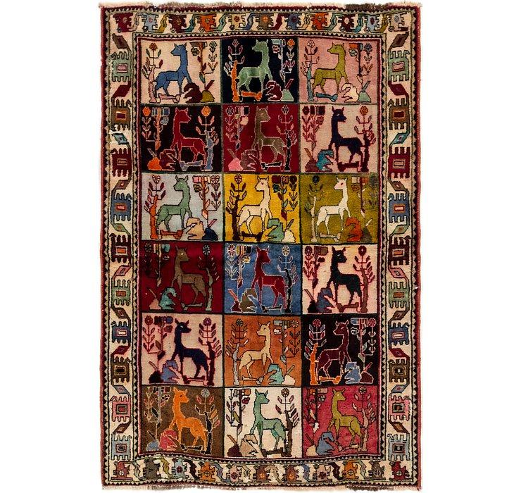 3' 10 x 6' 2 Ghashghaei Persian Rug