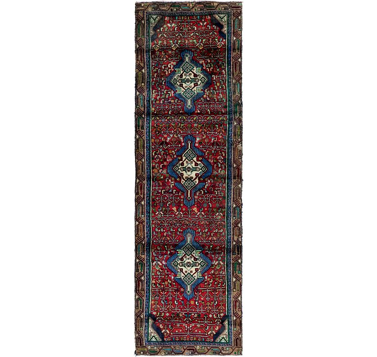 3' x 9' 7 Mazlaghan Persian Runne...