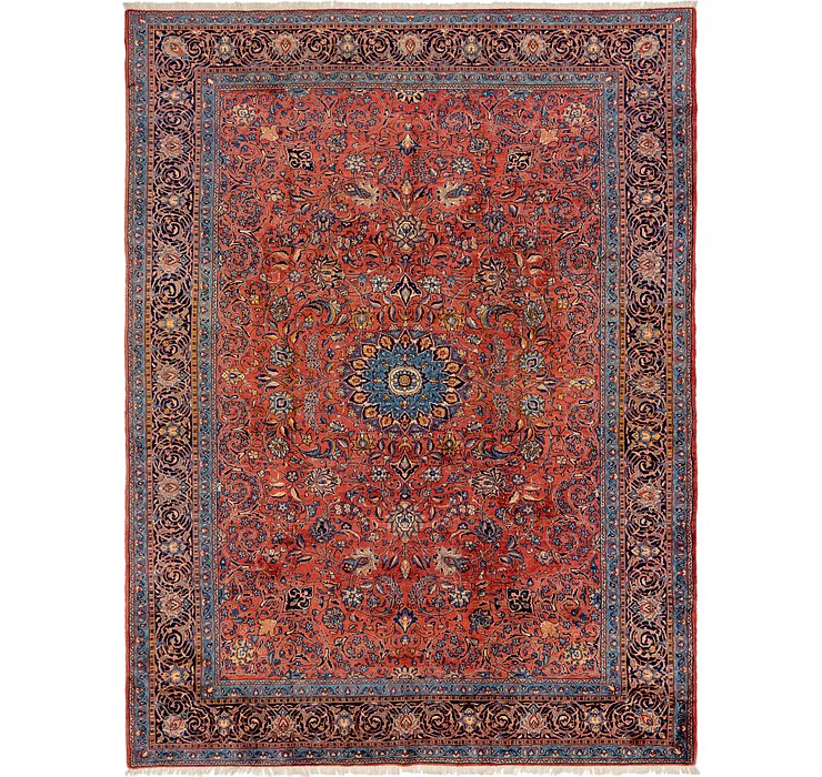 9' 6 x 12' 10 Sarough Persian Rug