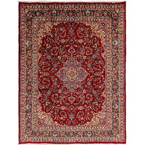 Link to 267cm x 343cm Mashad Persian Rug page