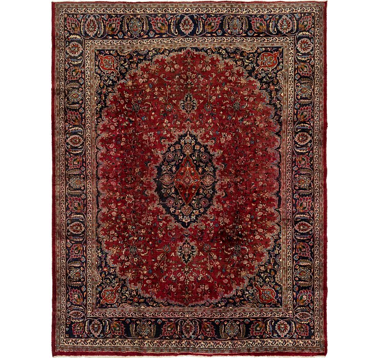 HandKnotted 9' 8 x 12' 7 Mashad Persian Rug