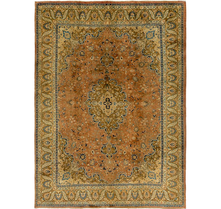 HandKnotted 9' 7 x 13' Mashad Persian Rug