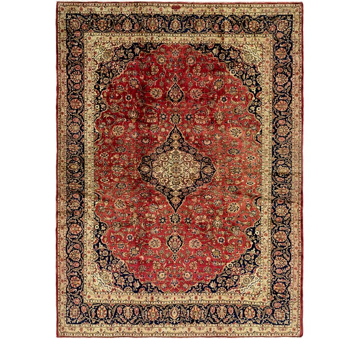 HandKnotted 9' 8 x 13' 2 Kashan Persian Rug