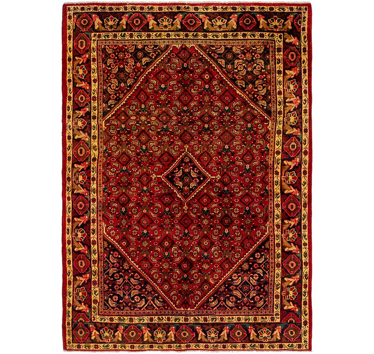 HandKnotted 6' 6 x 9' 4 Hossainabad Persian Rug