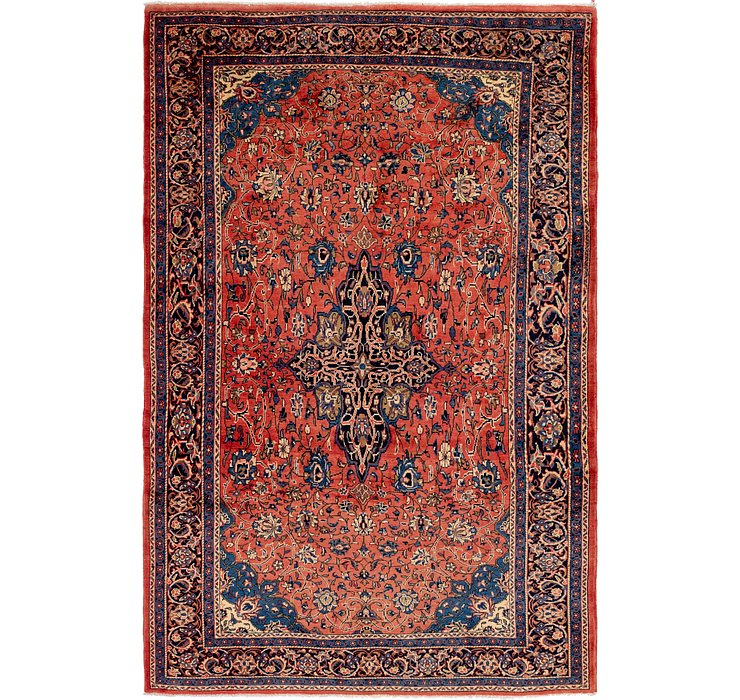 7' x 11' Sarough Persian Rug